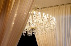 Varia's beautiful crystal chandelier