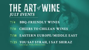 Art of Wine July Events