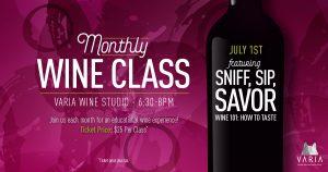 Monthly Wine Class